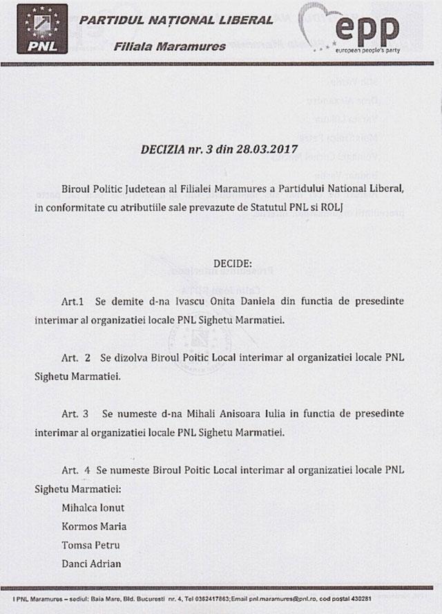 Scrisoare deschisă adresată Biroului Politic Național al PNL