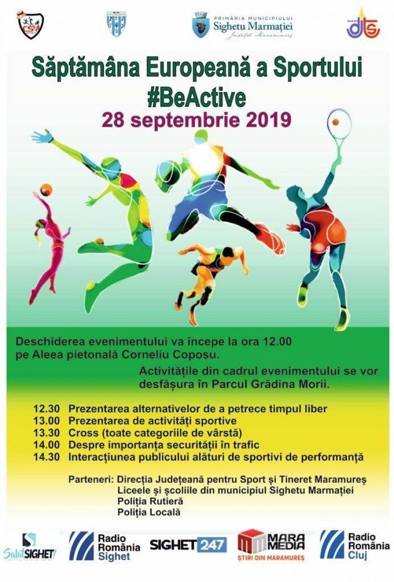 Weekend sportiv în Sighetu Marmatiei! - Săptămâna Europeană a Sportului