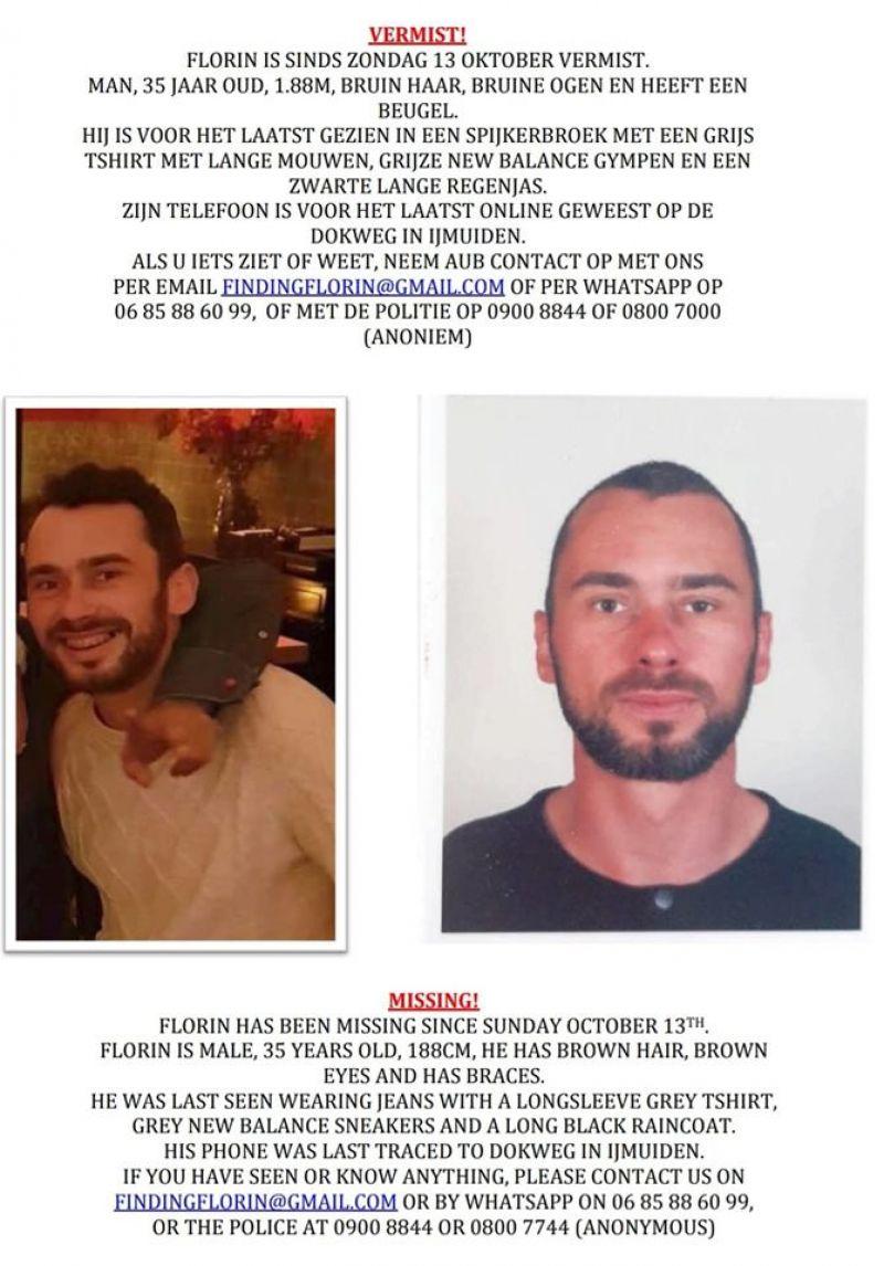 FOTO - Săpânțean dispărut în Amsterdam. Ultima oară a fost văzut în data de 13 octombrie