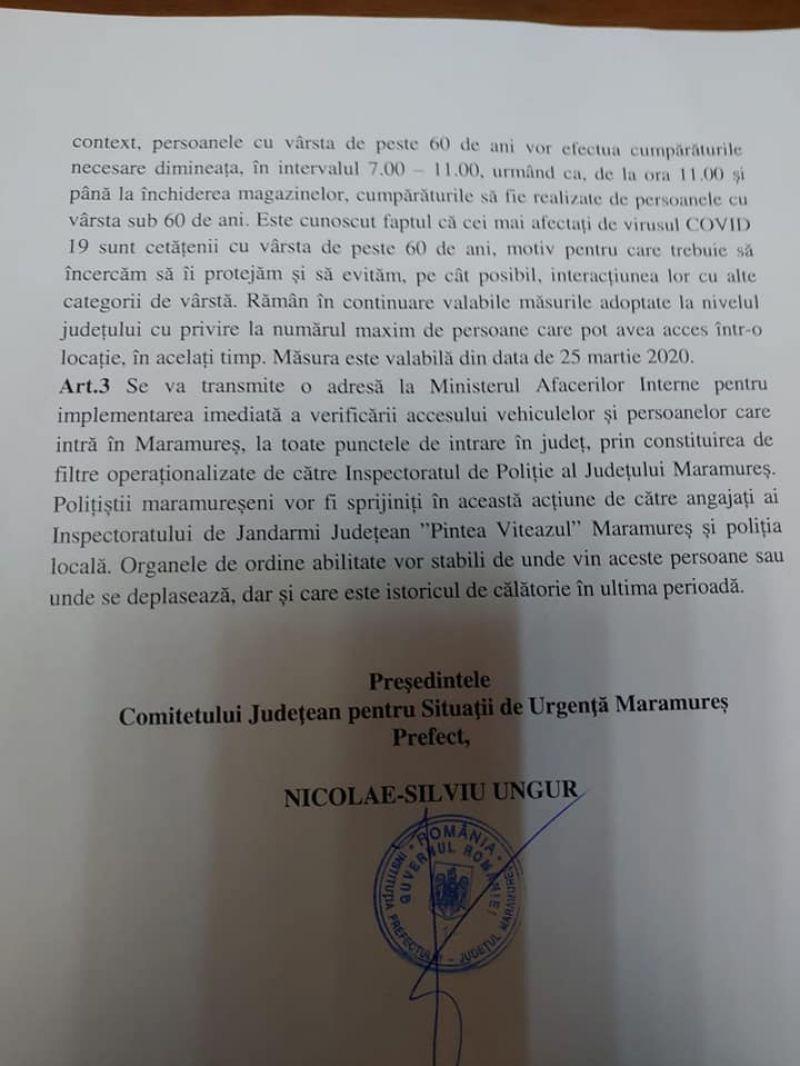 FOTO: Comitetul Județean pentru Situații de Urgență decide măsuri mai drastice pe teritoriul Maramureșului