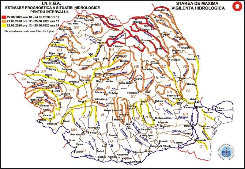 ATENȚIE! - COD ROȘU de inundații în Maramureș pe râurile Tisa, Vișeu și Iza