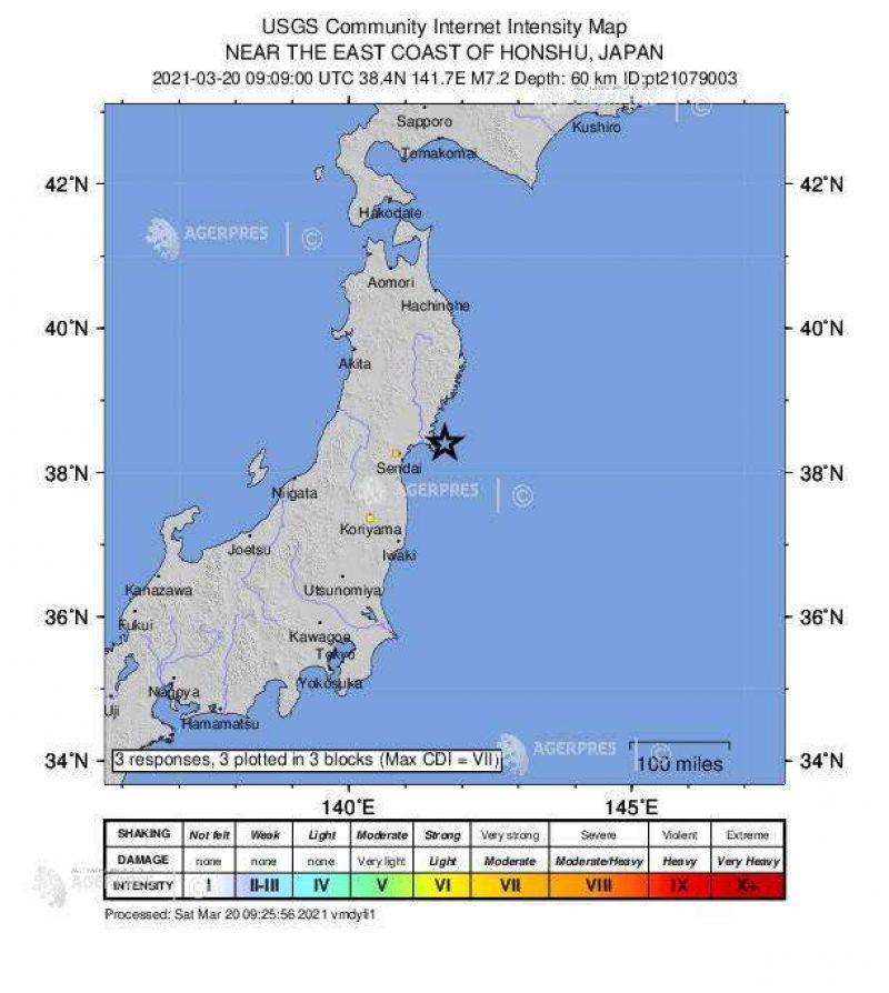 Alertă de TSUNAMI în Japonia după un cutremur de 7,2 grade pe scara Richter